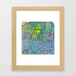 """Gustav Klimt """"Horticultural Landscape with hilltop"""" Framed Art Print"""