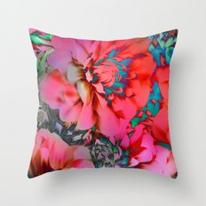 Proud Dahlias 2 Throw Pillow