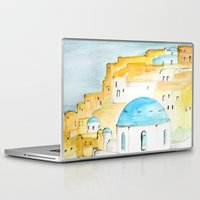 greece Laptop & iPad Skins featuring Skyline Greece by A Creative Need