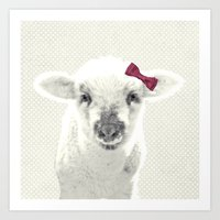 lamb Art Prints featuring LAMB by SUNLIGHT STUDIOS  Monika Strigel