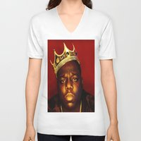biggie V-neck T-shirts featuring Biggie by I Love Decor