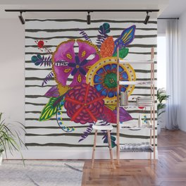 Jungle Flowers Wall Mural