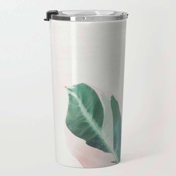 Pink Leaves I Travel Mug