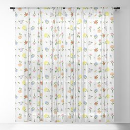 Flowers and More Flowers Sheer Curtain