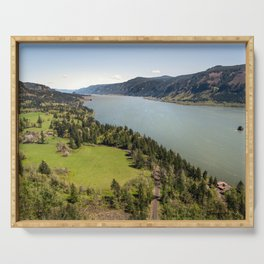 Columbia River Gorge Washington Serving Tray