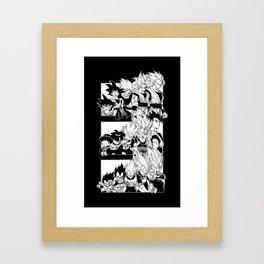 Saiyajin Heroes Framed Art Print