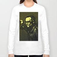 u2 Long Sleeve T-shirts featuring U2 / Bono 1 by JR van Kampen