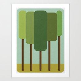 Green Summer Forest Art Print