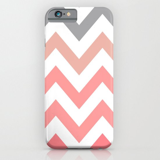CORAL FADE CHEVRON iPhone & iPod Case