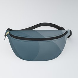 Abstract Color Waves - Blue Palette Fanny Pack