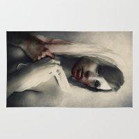 blood Area & Throw Rugs featuring Blood by Digital Asylum (Josh Winton)
