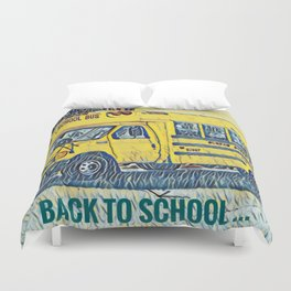 Back to School - The Yellow School Bus Duvet Cover