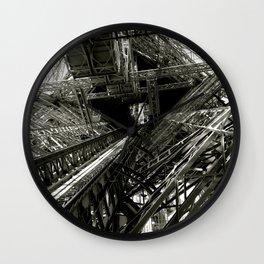 Eiffel Guts Wall Clock