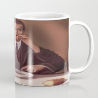 magritte Mugs featuring Rene Magritte- self portrait by Dano77