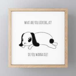 What are you looking at?  Framed Mini Art Print