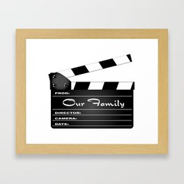 Our Family Clapperboard Framed Art Print