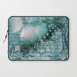 LE PAPILLON | teal Laptop Sleeve