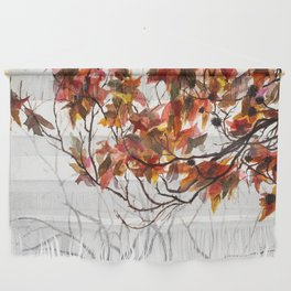 Fall Leaves - Watercolor Art Wall Hanging