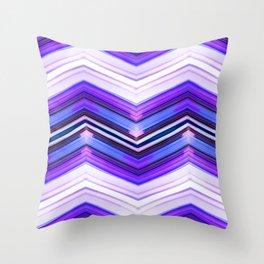 Geometric Wave - Ultra Violet Minimal Geometric Abstract Throw Pillow