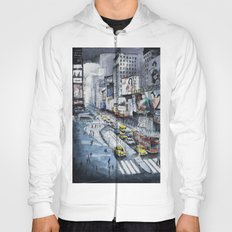 Time square - New York City - Illustration watercolor painting Hoody