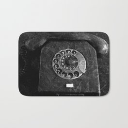 RFT phone, black and white photography Bath Mat