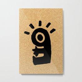 cork paper character Metal Print