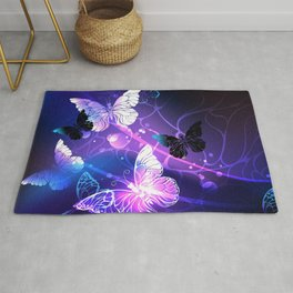 Background with Night Butterflies Rug
