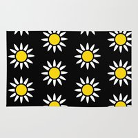 daisies Area & Throw Rugs featuring Daisies  by Libbie Bischoff