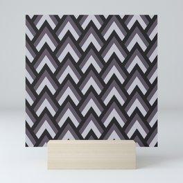 Mid Century Modern Triangles (Charcoal) Mini Art Print