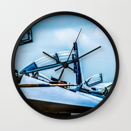Raised Canopies Of Modern Fighter Aircrafts Wall Clock
