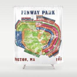 Fenway Park Baseball Stadium Shower Curtain