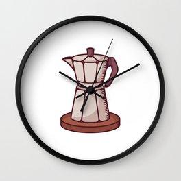 Traditional Coffee Urn Wall Clock