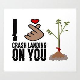 Crash Landing On You - I love Crash Landing On You Art Print
