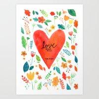 Love never fails Art Print