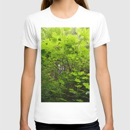 Neon Leaf Forest T-shirt