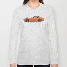 Legendary Classic Orange 240z Fairlady Vintage Retro Cool German Car Wall Art and T-Shirts Long Sleeve T-shirt