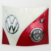 vw Wall Tapestries featuring VW T2 Split Screen by Alice Gosling
