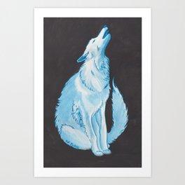 Crying Wolf Art Print