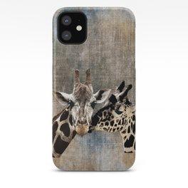 Snuggle Bug Giraffes iPhone Case