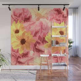Summer Day Floral Wall Mural