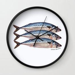 Fresh Cornish Mackerel Wall Clock