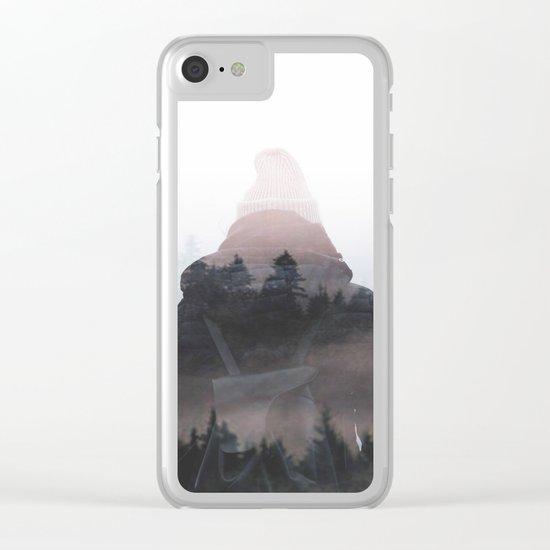 All your weight falls on me Clear iPhone Case