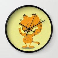 garfield Wall Clocks featuring Garfield by Rod Perich