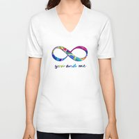 stained glass V-neck T-shirts featuring Stained Glass by gretzky