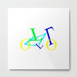 bicycle letters Metal Print