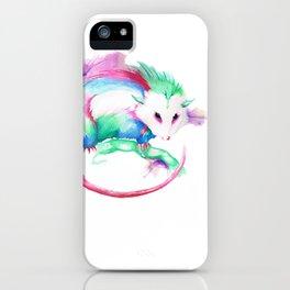Watercolor Opossum by Calder Brown iPhone Case