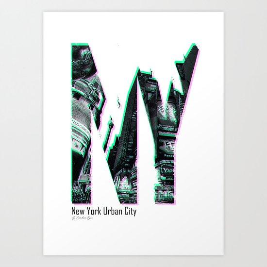 New York Urban City Art Print