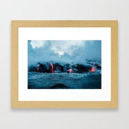 Vulcano ocean Framed Art Print