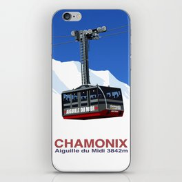 Chamonix Ski Resort , Aiguile du Midi Cable Car iPhone Skin