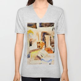 Lulu and Alva Schon at Lunch - Digital Remastered Edition Unisex V-Neck